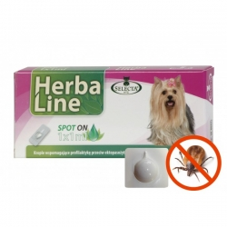 HerbaLine spot-on 1x1ml pro psy do 15kg