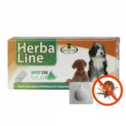 HerbaLine spot-on 1x1,5ml pro psy do 45kg